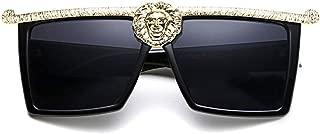 SamuRita Novelty Luxury Square Flat Top Super Dark Lenses Gangster Sunglasses
