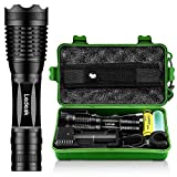 Super Bright Tactical Led Flashlight,Ledeak CREE XM-T6 1000 Lumen Led torch,Adjustable Focus 5