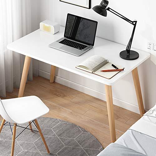 Escritorio de escritorio para computadora portátil de espacio pequeño, consola de muebles de oficina de escritorio de madera simple y moderna, escritorio de estudio pequeño para oficina en casa