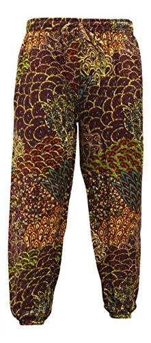 Shopoholic Fashion Damen-Haremshose, mit Elfenaten-Print, im Hippiestil Gr. One size , 5