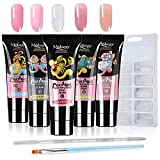 Anself 5 * 15ml Poly Gel Set Couleurs Polygel Nail Extension Gel Kit Avec 100pcs Model Nail Tips pour Nail Art