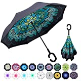 WASING Double Layer Inverted Umbrella Cars Reverse Umbrella,...