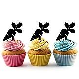 Carrot Cupcake Cake Topper para tartas decoración para ceremonia de cumpleaños celebración boda decoración de acrílico Topper para Cake Fiesta Pastel Decoraciones 10 piezas