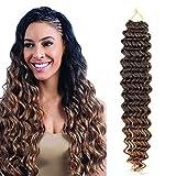 7 Packs Deep Wave Crochet Hair Deep Twist Crochet Braid Low Tempreture Kanekalon...