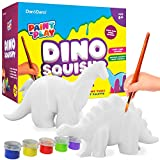 Paint 3 of your own dino squishies: Are you a dinosaur fan? Then what could be more fun than painting your own dino squishies to play and squeeze? Make a Diplodocus, Styracosaurus, and Stegosaurus! Feel free to play around with the colors! Keep them...