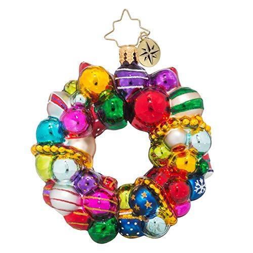 Christopher Radko Joyful Wreath Little Gem Wreath Christmas Ornament
