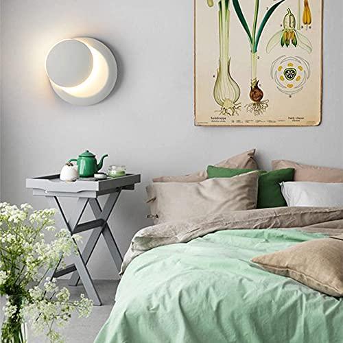 Aplique LED aplique de pared giratorio de 360 grados creativo con clip solar focos de pared para iluminación interior dormitorio habitación de los niños pasillo restaurante escalera color blanco