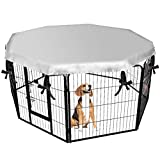 EXPAWLORER Dog Crate Cover for Outdoor and Indoor- Double Side Waterproof Windproof Shade Kennel Cover, Fits 24' Crate with 8 Panel