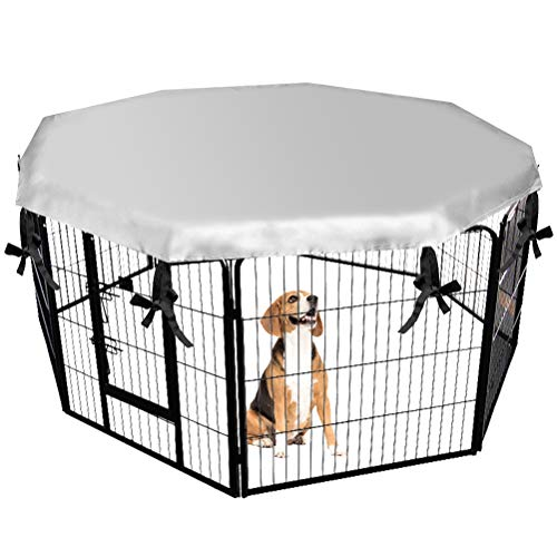 Dog Crate Cover for Outdoor and Indoor- Double Side Waterproof Windproof Shade Kennel Cover, Fits 24' Crate with 8 Panel