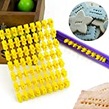 72pcs Alphabet Number and Letter Cookie Biscuit Stamp Embosser Cutter Fondant, Cookies Biscuit Letters Stamp Embosser Mold Cutter DIY Tool Make Any Message Letter