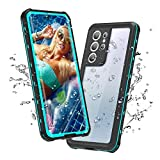 Samsung Galaxy S21 Ultra Waterproof Case, Galaxy S21 Ultra Case with Screen Protector, Heavy Duty Protective IP68 Waterproof Case for Samsung Galaxy S21 Ultra 6.8',2021 (S21 Ultra-6.8', Teal)