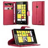 Cadorabo Custodia Libro per Nokia Lumia 520 in Rosso Carminio – con Vani di Carte, Funzione Stand e Chiusura Magnetica – Portafoglio Cover Case Wallet Book Etui Protezione