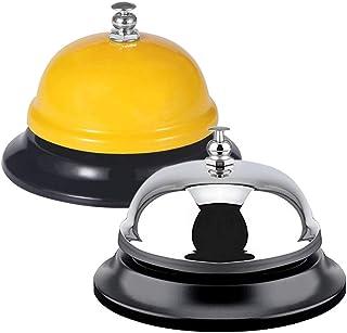FineGood 2 stuks Call Bells, RVS Chrome Finish Bureau Service Bell voor Hotel Restaurant Keuken School Receptie Gebied - G...