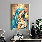 AJleil Puzzle 1000 Piezas Icono Cristiano de la Virgen y el Niño Puzzle 1000 Piezas Adultos Juego de Habilidad para Toda la Familia, Colorido Juego de ubicación.50x75cm(20x30inch)