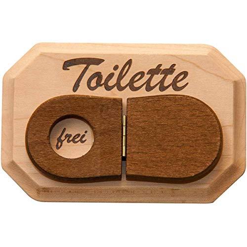 Spruchreif PREMIUM QUALITÄT 100% EMOTIONAL · WC Schild aus Holz · Toilettenschild mit WC-Deckel zum Umklappen · Türschild WC · Schild Toilette · lustige Geschenkidee