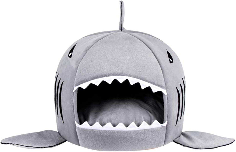 Hxyan Cat Bed Semiclosed Cat Sleeping Bag Cat Mat Pet Shark Style 50  36cm