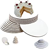 (10', Pack of 50) 10 inch cake circles 10 inch round cake boards good for Pizza and Pie Board Circle Sturdy 10 cake circle White Corrugated Cardboard, 100% Food Safe cake circles 10 inch