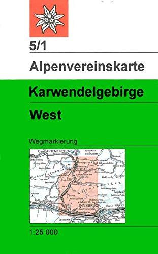 Karwendelgebirge - Westliches Blatt: Wegmarkierung (Alpenvereinskarten)