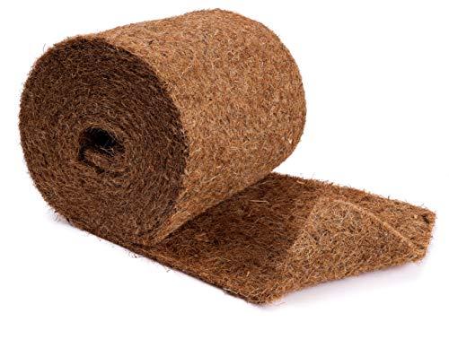 N Nagerteppich.de Kokosmatte aus 100% Kokosfasern - 25cm x 5m Rolle Anzuchtmatte mit Naturlatex - Winterschutz und Kälteschutz für Pflanzen - Baumschutz Meterware Naturprodukt