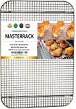 MASTERRACK 100% 304 Stainless Steel Cooling Rack and Wire Grate For Full Size Sheet Bun Pan,Real Heavy Duty 3.20LB for Cooking, Roasting,Drying,Commercial Quality, Healthy Material Compliance with FDA