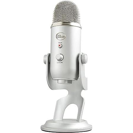Blue Micrófono USB profesional Yeti para grabación, streaming, podcasting, radiodifusión, gaming, voz en off y más, multipatrón, Plug'n Play en PC y Mac Plata