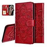 IMEIKONST PU Leather Case for LG K40S Mandala Embossed