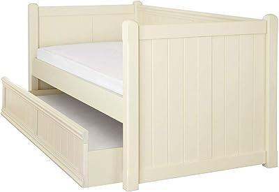 ASPACE Beds, Charterhouse Lit de Jour avec gigogne, Blanc Antique, Simple
