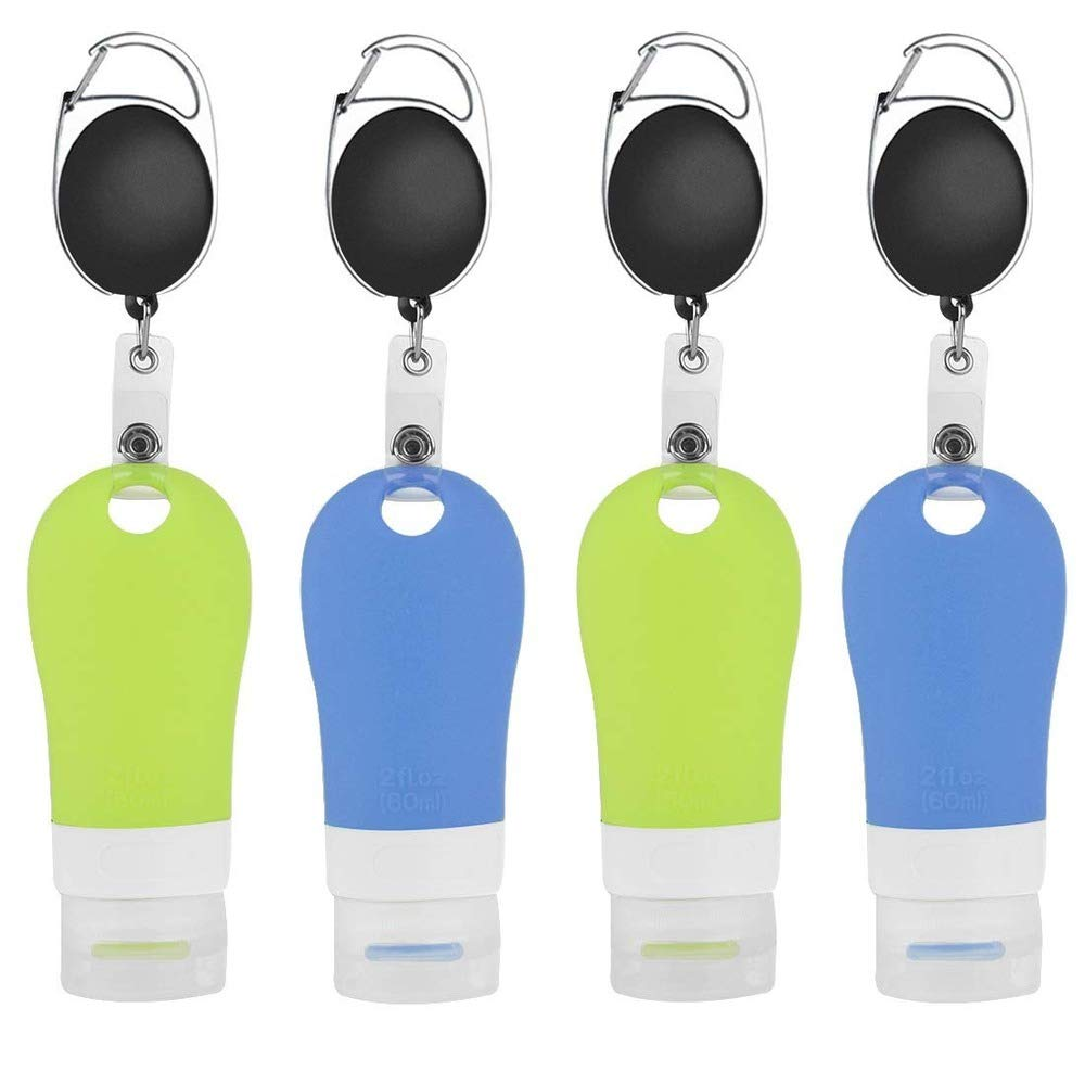 Empty Bargain Hand Sanitizer Bottles 4 Silicone Pack Ranking TOP12 Portable 60ML Trave