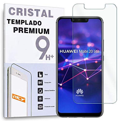 REY Protector de Pantalla para Huawei Mate 20 Lite, Cristal Vidrio Templado Premium