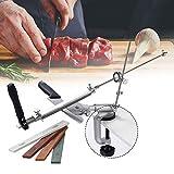 PaNt Afilador de cuchillos de acero inoxidable de 360 °,Afilador de cuchillos de ángulo fijo con rotación Pro RX-008,herramientas de afilado de cocina profesional con 4 piedras de afilar