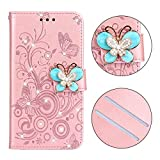 YXCY AYD Diamond Papillons incrustés Amour Fleurs Motif Horizontal Flip Cuir Coque pour Huawei Mate...
