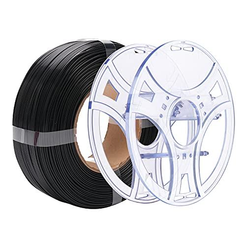 eSUN Filamento PLA Plus per Stampante 3D, Filamento PLA+ 1.75mm, Precisione Dimensionale +/- 0.03 mm, Bobina da 2.2 LBS (1 KG) Filamento per Stampanti 3D,Nero