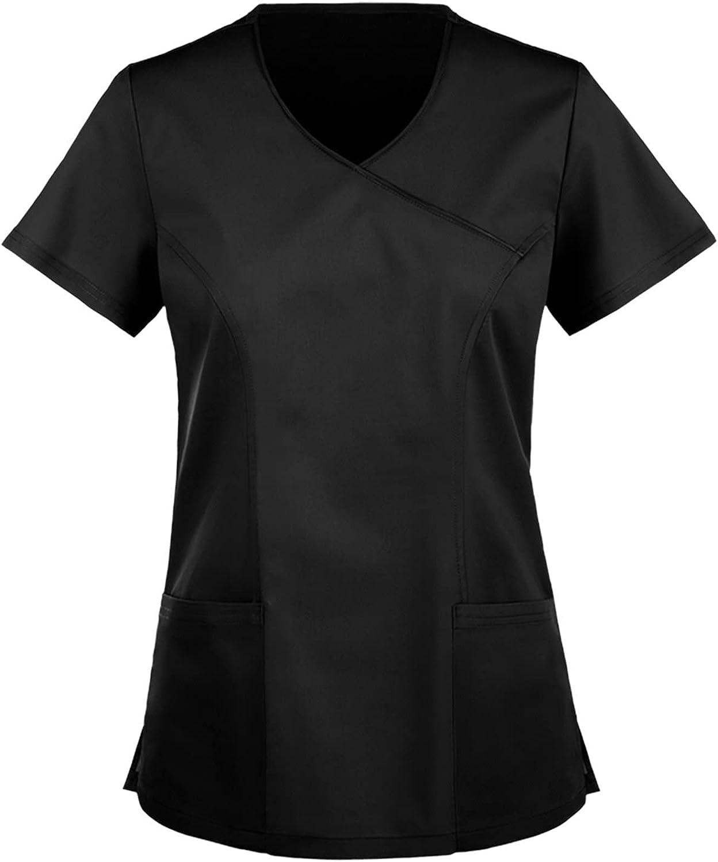 Hotkey Short Sleeve Tops for Women, V-Neck T-Shirts Butterfly Bu