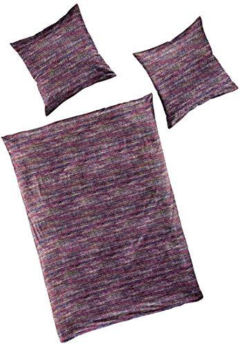 Bierbaum Smail by Mako-Satin Bettwäsche Purple Tweed 3287 200 cm x 200 cm Purple