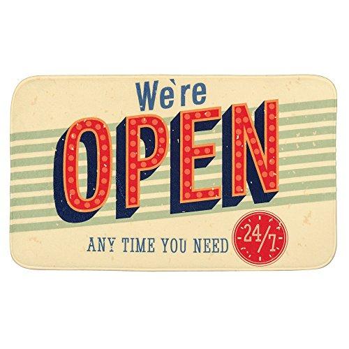 WENKO 21581100 Badteppich Vintage Open, 100 % Polyester, Mehrfarbig