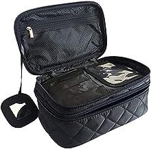 Make-up tas, archile cosmetische tas pouch archile toilettas organizer maat M 23 * 14 * 10 cm dubbele laag met spiegel voo...