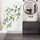 DIY decoración del hogar pegatinas de vidrio ventana película, libélula hojas con pequeñas libélulas y jazmín En, sala de estar, dormitorio, cocina, vestíbulo de oficina, W35.4 x H78.7 pulgadas