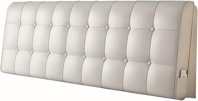 Coussins de lit Tête de lit Dossier de lit Chevet Coin Taille Pad Doux Couverture en Cuir éponge Remplissage Soucravaten Lombaire,A,120  60cm