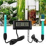 Detector de calidad del agua montado en la pared Medidor multiparámetro PH PH Monitor en línea Probador para aplicaciones de agua de mar, horticultura, hidroponía(3)
