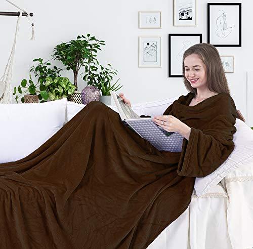 Batamanta Forro polar 150 x 180 cm, Suave y mullida, Chocolate