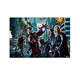 DRAGON VINES Vengadores Iron Man Thor Capitán América Negro Viuda Hulk Póster personalizado Lienzo Villa decoración 16x24 pulgadas (40x60cm)