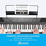 Alesis Recital – 88 Key Digital Electric Piano / Keyboard with Semi Weighted Keys, Power Supply, Built-In Speakers and 5 Premium Voices (Amazon Exclusive)