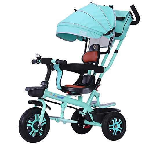 Bébé GUO@ Tricycle pour Enfants 1-3-6 Ans Trolley SièGe De Poussette Confortable Et SûR Pouvant êTre Pivoté