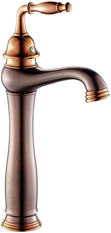 NewBorn Faucet Wasserhhne Warmes und Kaltes Wasser groe Qualitt der Kupfer Wasserhahn S antiken Tisch Basinretro Schwarze Orb [High] Tippen Sie auf