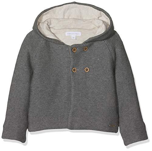 bellybutton KiKo Baby-Jungen Strickjacke m. Kapuze 1/1 Arm, Grau (asphalt melange|gray 8882), 74 EU