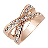 SaySure - Alloy Gold Color Silver Color Round Cross Rings -