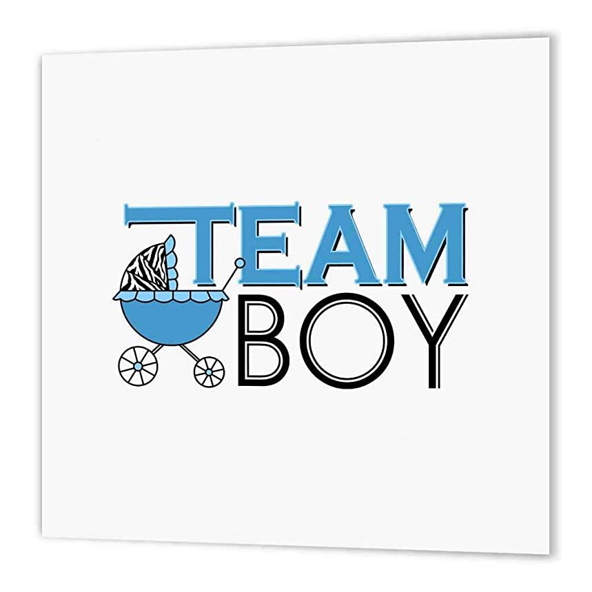 3dRose ht_57090_1 Gender Reveal Party-Team Boy Blue-Iron on Heat Transfer Paper for White Material, 8 by 8-Inch