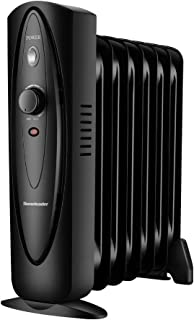 Homeleader Mini Oil Filled Heater, Radiator Heater, Electric Personal Heater, Space Heater for Home and Office, 700W, Black