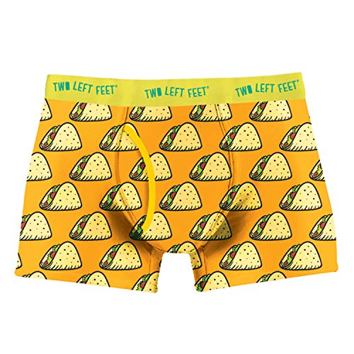 Two Left Feet Mens Boxer Brief Underwear, Taco Tuesday, Small
