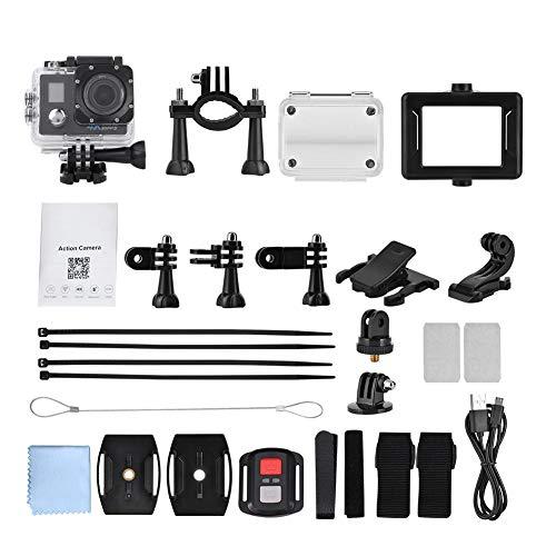 Sport Camera-4K 30fps DV Cámara de acción para Deportes al Aire Libre WiFi Grabador de Video a Prueba de Agua con Control Remoto